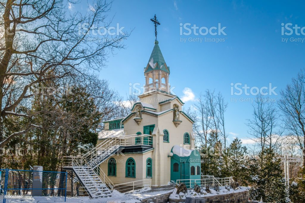 Chapel at Saint Joseph Oratory - Montreal, Quebec, Canada stock photo