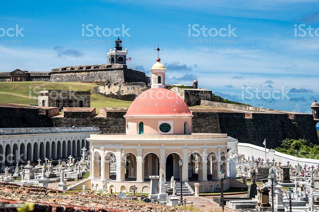 Chapel at Santa Maria Magdelena Cemetery San Juan Puerto Rico stock photo