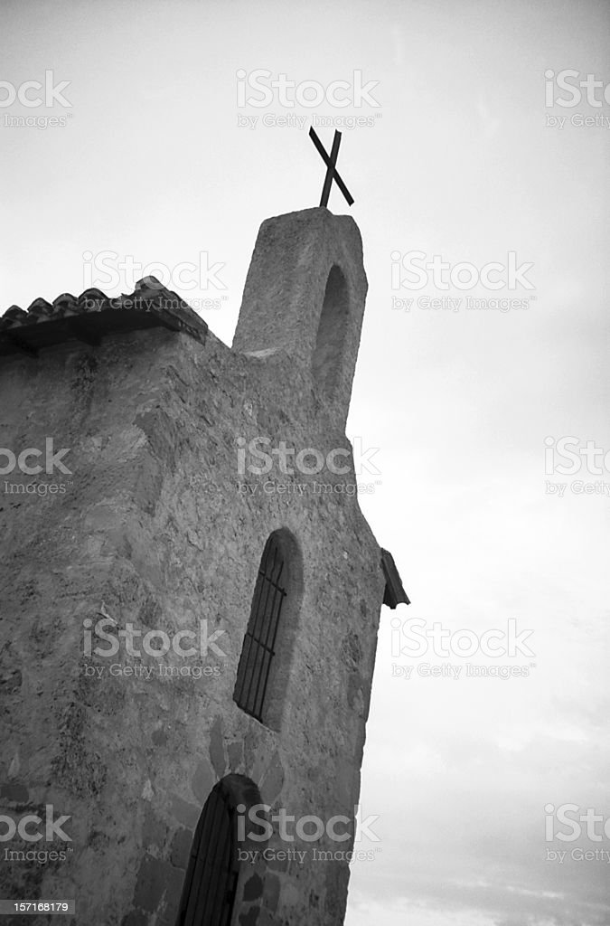 Chapel at Tain l'Hermitage stock photo