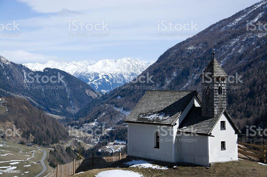 Chapel at the Alp Islitzer, East Tyrol, Austria stock photo