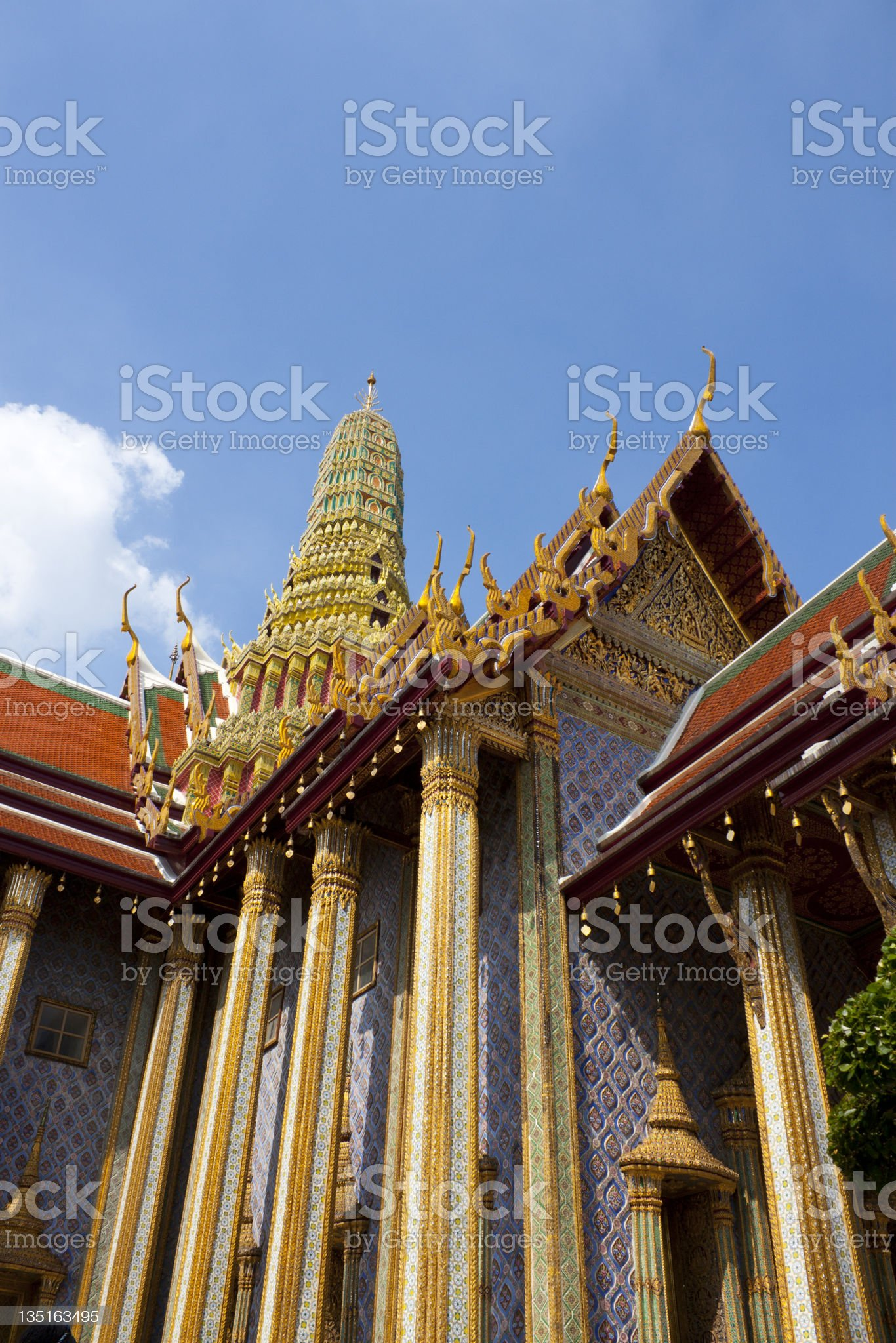 Chapel at The Emerald Buddha Temple royalty-free stock photo