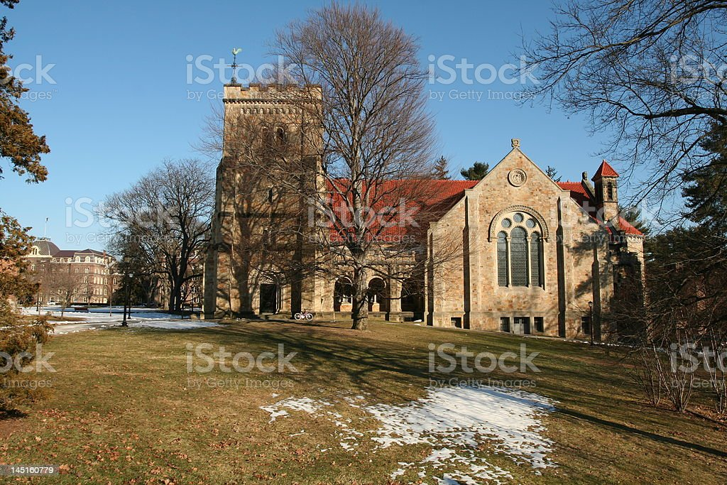 Chapel at Vassar College stock photo