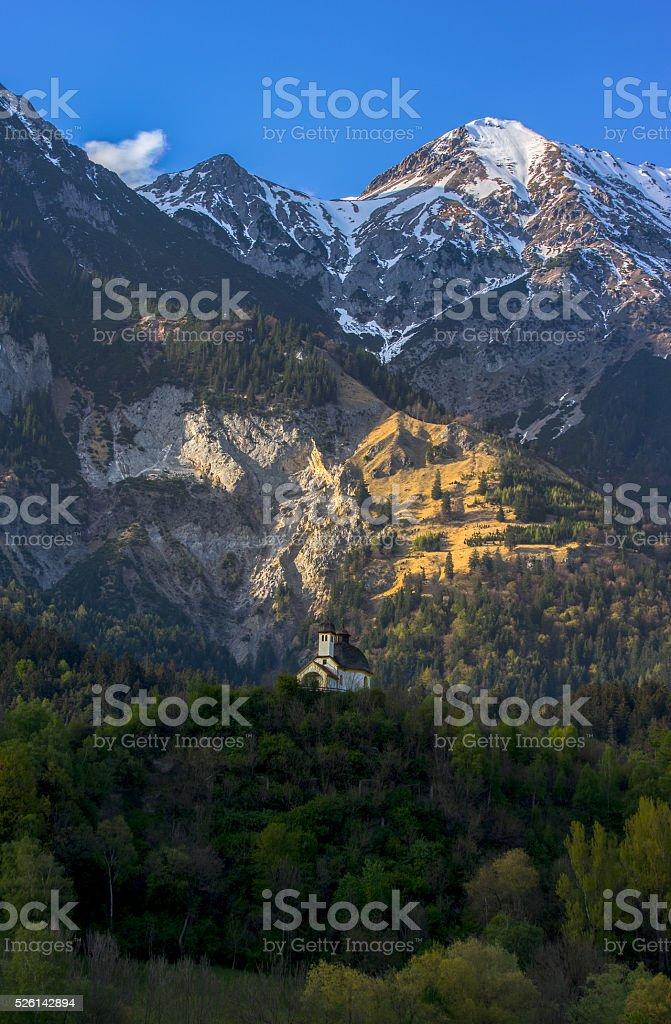 Chapel, Austrian Alps stock photo