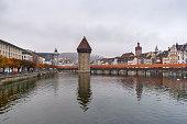 Chapel Bridge and Reuss River, Lucerne