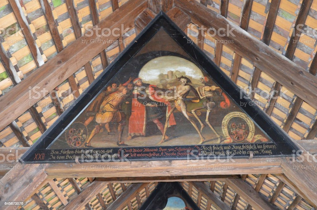 Chapel Bridge in Lucerne, Switzerland stock photo