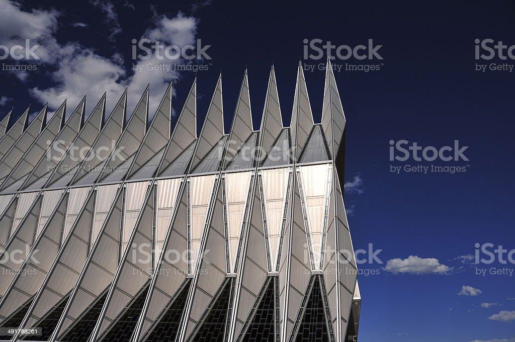 USAFA chapel, Colorado Springs, USA royalty-free stock photo