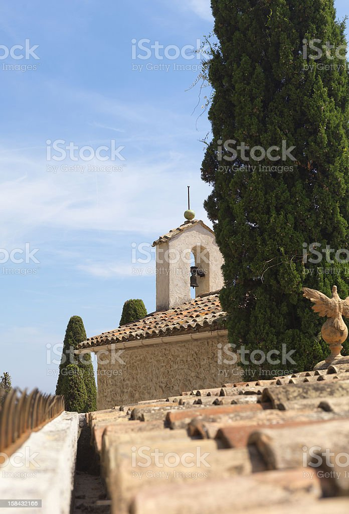 Chapel in France, C?te d'Azur royalty-free stock photo