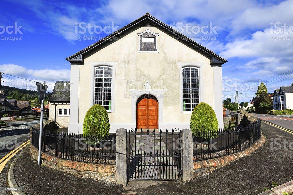 Chapel in Penybontfawr,  Powys, Wales royalty-free stock photo