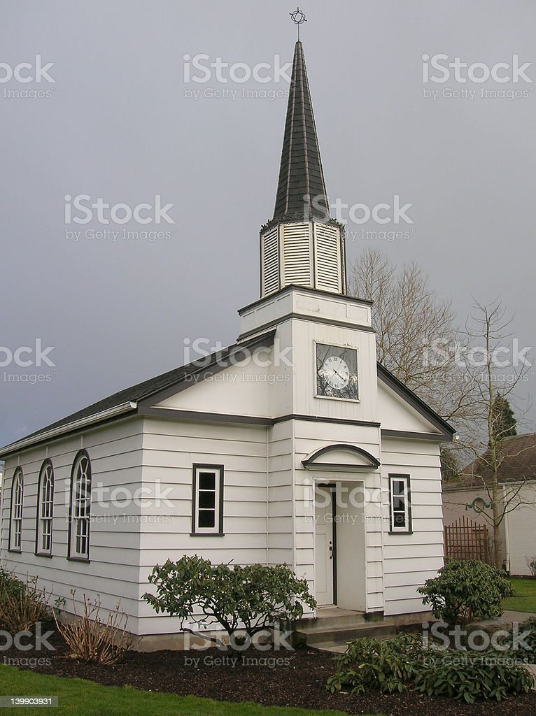 Chapel in Storm royalty-free stock photo