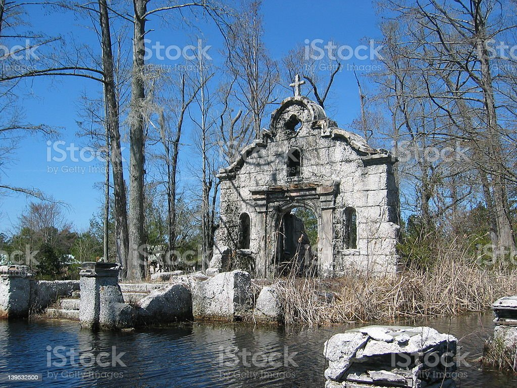 Chapel In Swamp royalty-free stock photo