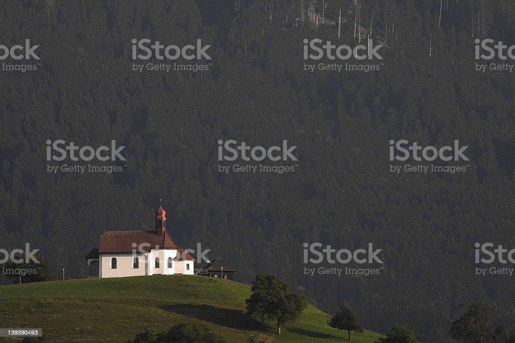Chapel in Switzerland stock photo