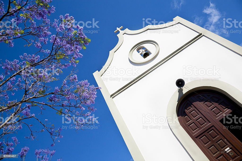 Chapel in Tenerife stock photo