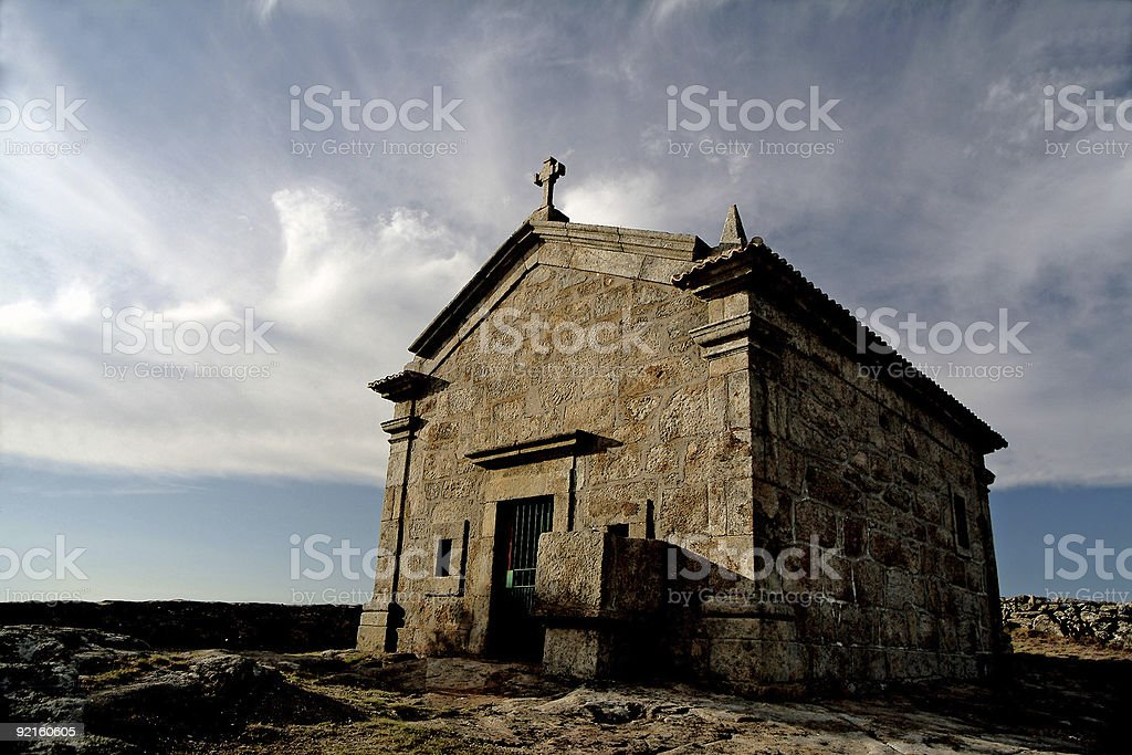 Chapel in the mountain royalty-free stock photo