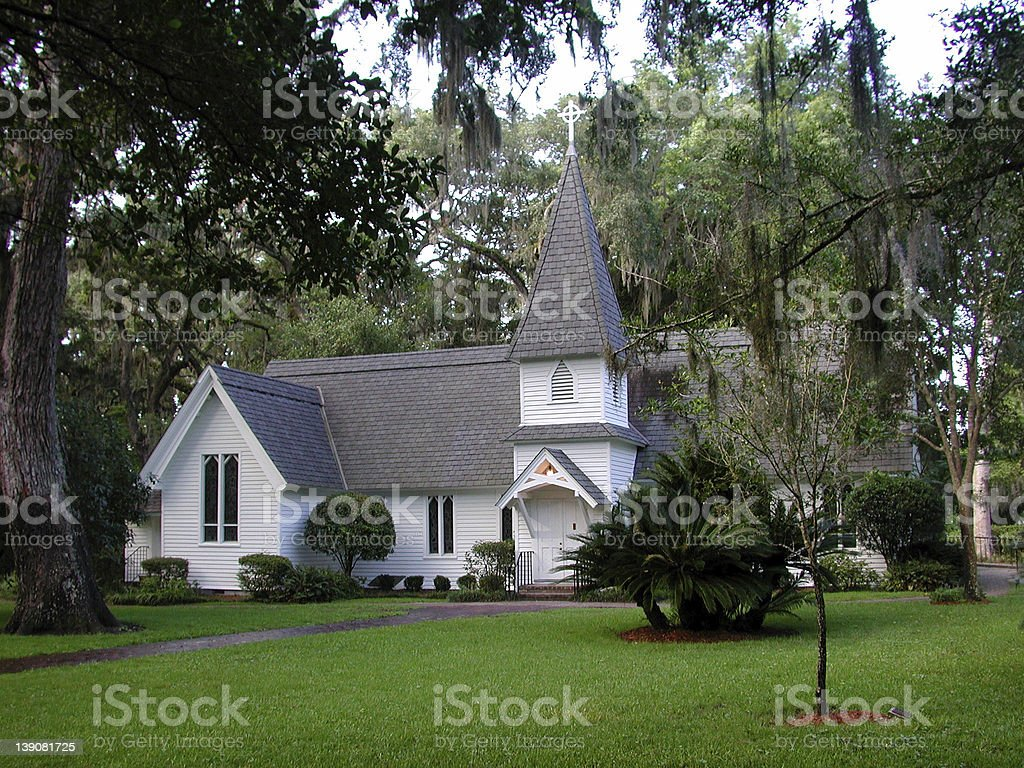 Chapel in the Oaks stock photo