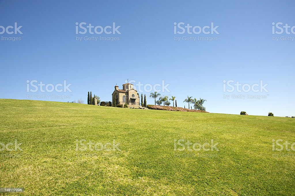 Chapel in the outdoors royalty-free stock photo