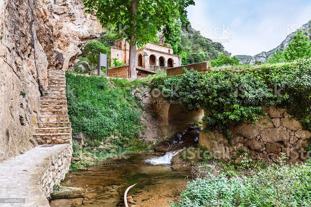Chapel in the  Tobera, Castilla and Leon. Spain stock photo