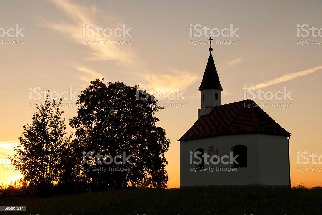 chapel near Steingaden stock photo