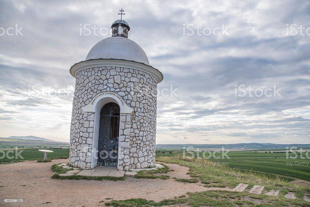 Chapel near Velke Bilovice stock photo