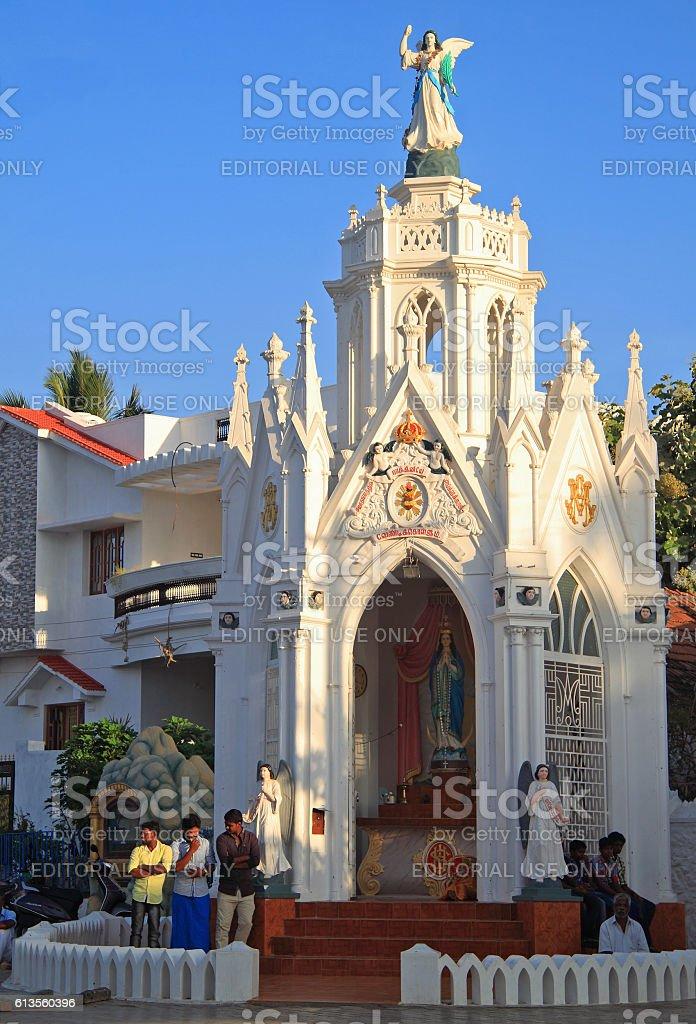 Chapel of Catholic Church in Kanyakumari, Southern India stock photo