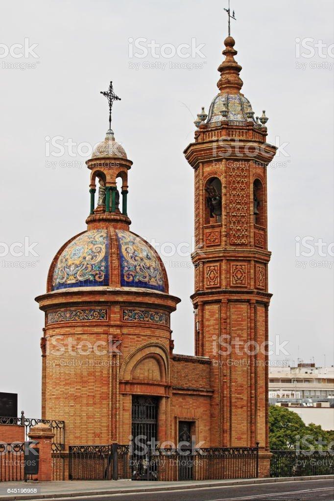 Chapel of El Carmen stock photo