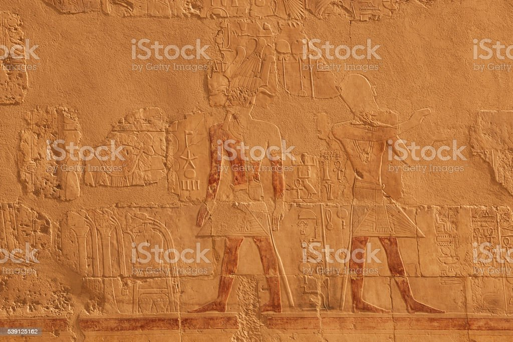 Chapel of Hathor, Hatshepsut Temple, Luxor, Egypt stock photo