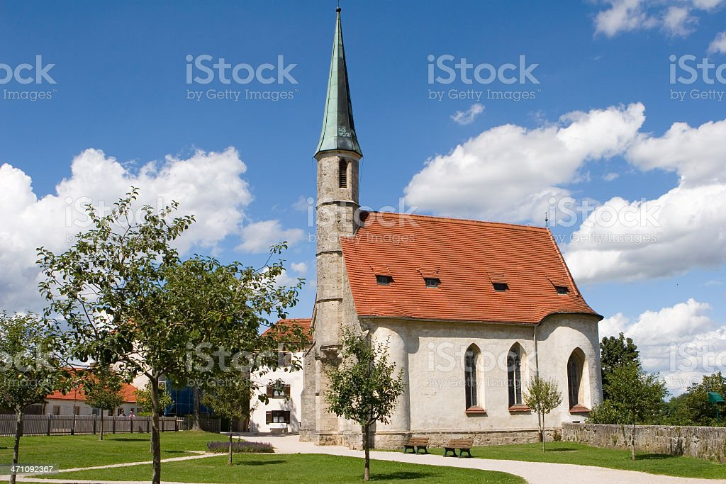 Chapel of Hedwig in Burghausen castle stock photo