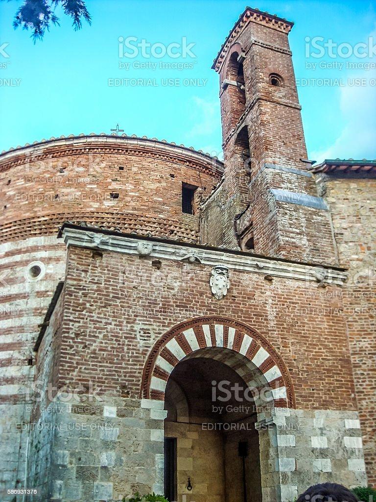 Chapel of Saint Galgano in Montesiepi, Tuscany, Italy. stock photo