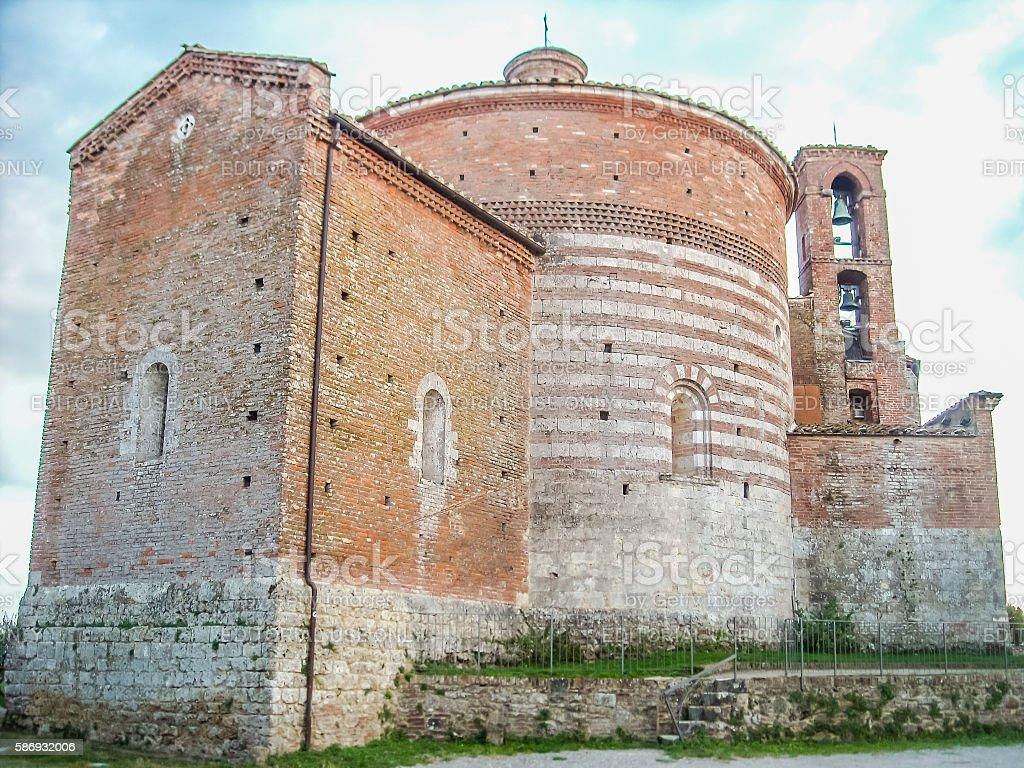 Chapel of Saint Galgano in Montesiepi, Tuscany. stock photo