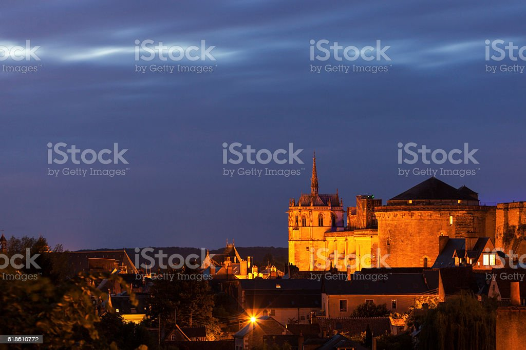 Chapel of Saint-Hubert in Amboise stock photo