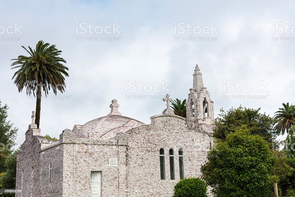 Chapel of San Sebastian, A Toxa stock photo