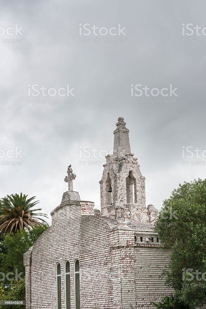 Chapel of San Sebastian in A Toxa, Galicia stock photo