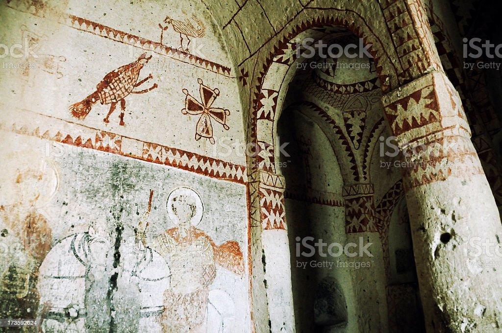 Chapel Of St. Barbara, Goreme, Cappadocia, Turkey royalty-free stock photo