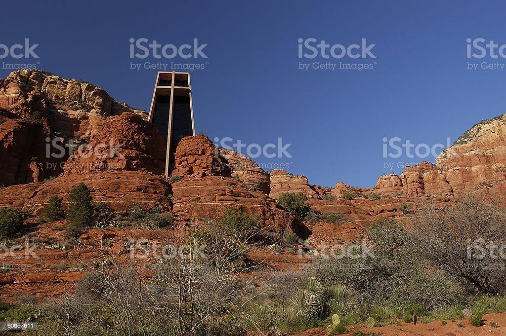 Chapel of the Holy Cross, Sedona Arizona royalty-free stock photo