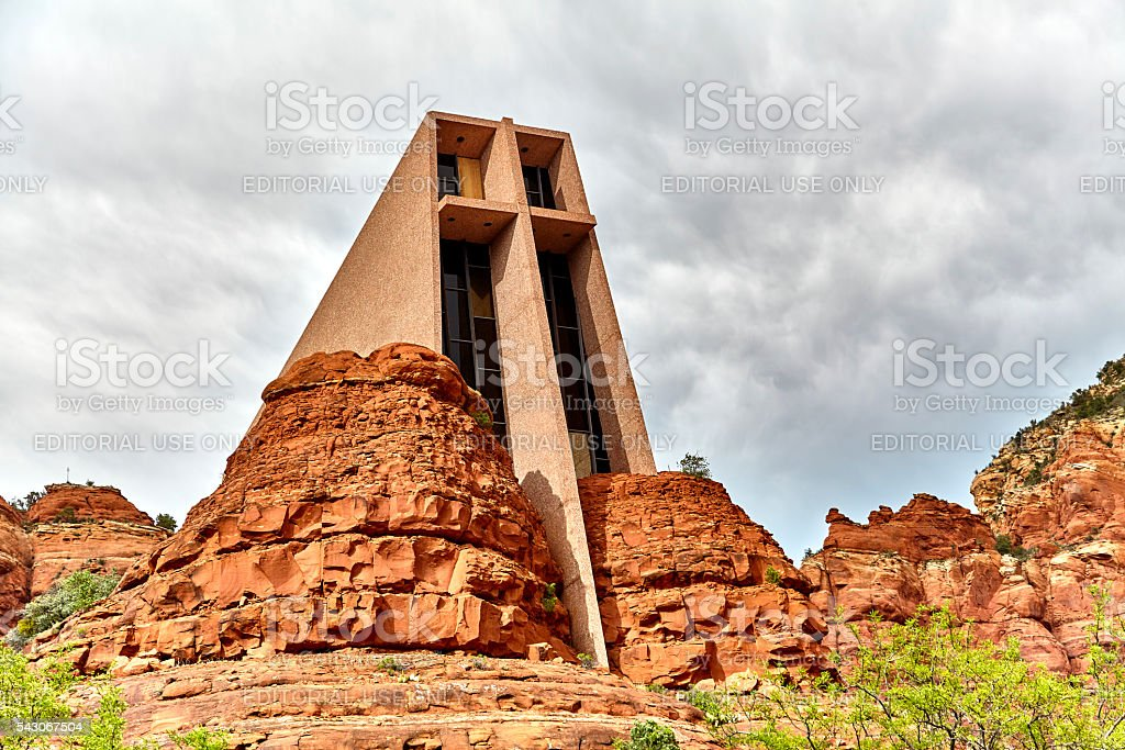 Chapel of the Holy Cross with Madonna and Child stock photo