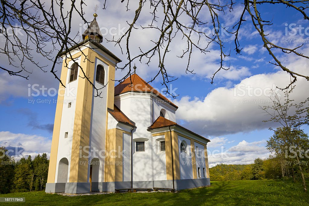 Chapel of the Holy. Martin stock photo