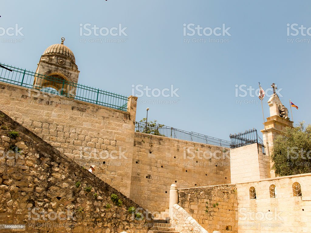 chapel of the Madonna and Child  in  Gethsemane stock photo