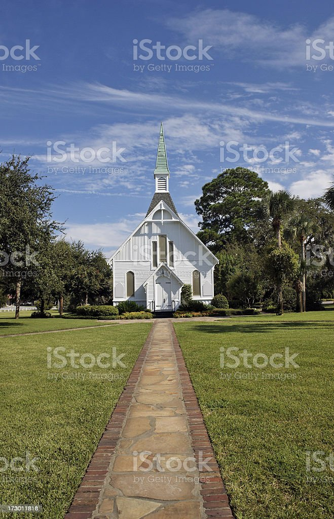 Chapel on St. Simon's Island Georgia stock photo