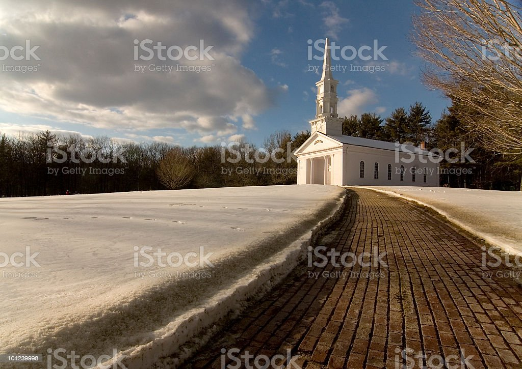 Chapel on the Hill stock photo