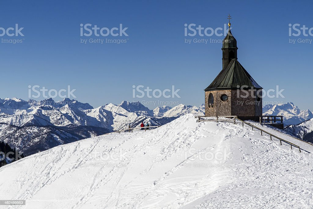 Chapel on top of Wallberg mountain, Germany stock photo