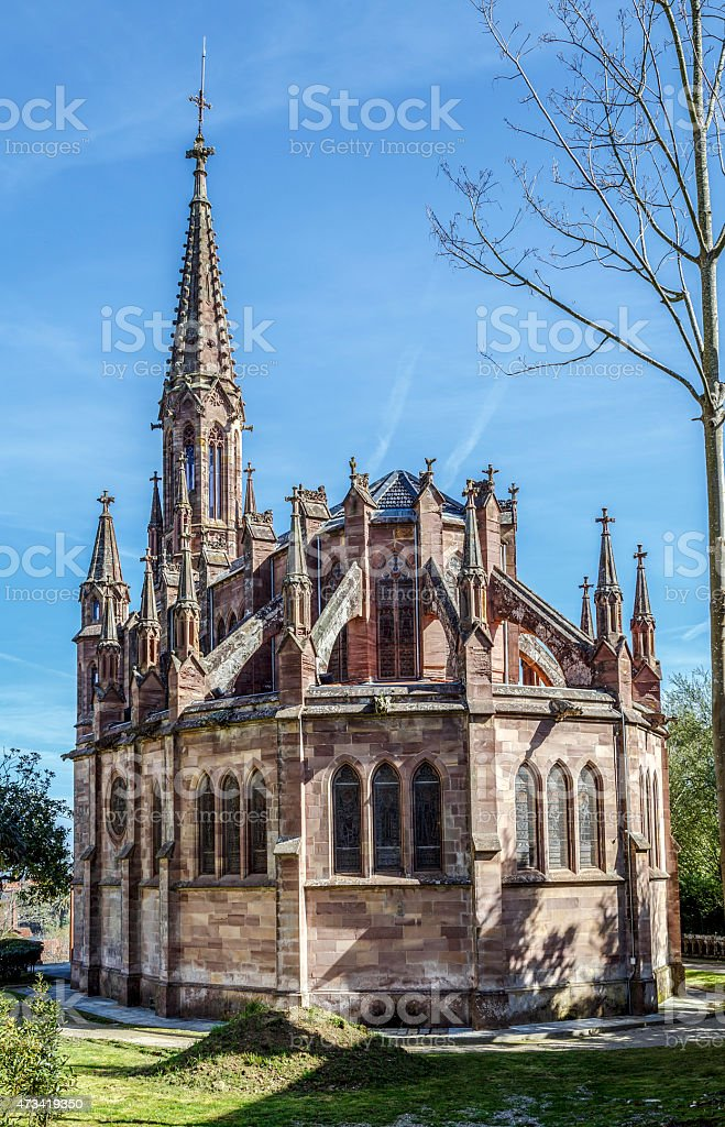 Chapel pantheon of Marquis de Comillas, Spain stock photo