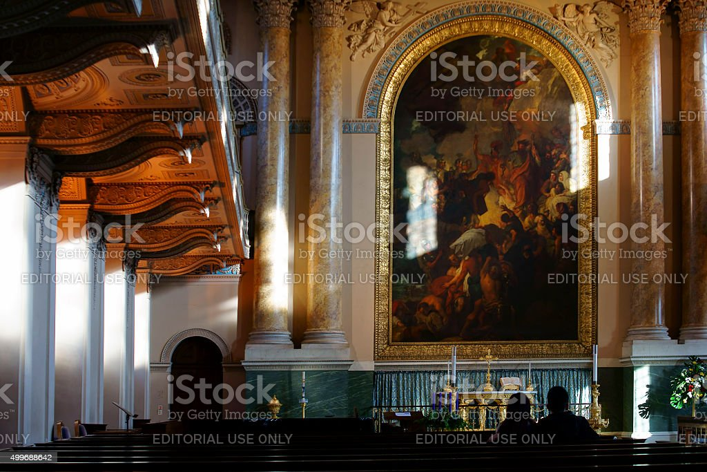 Chapel Royal Naval College London stock photo