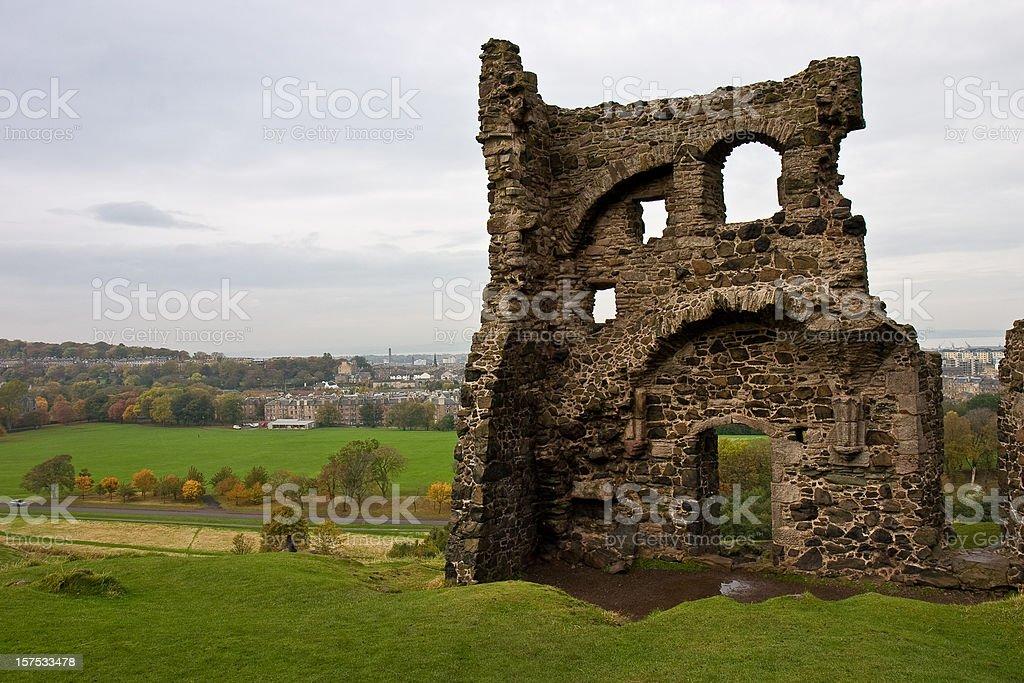 Chapel Ruins stock photo
