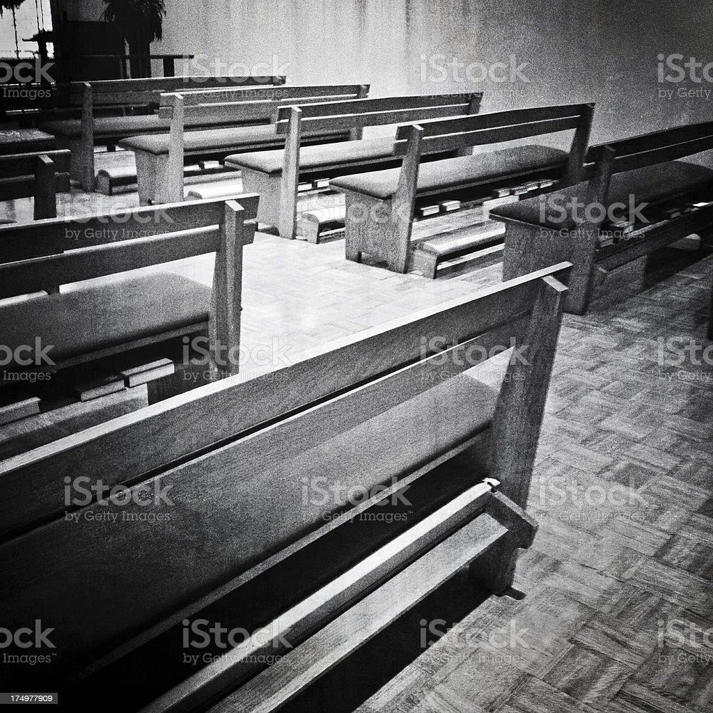 Chapel Seating stock photo