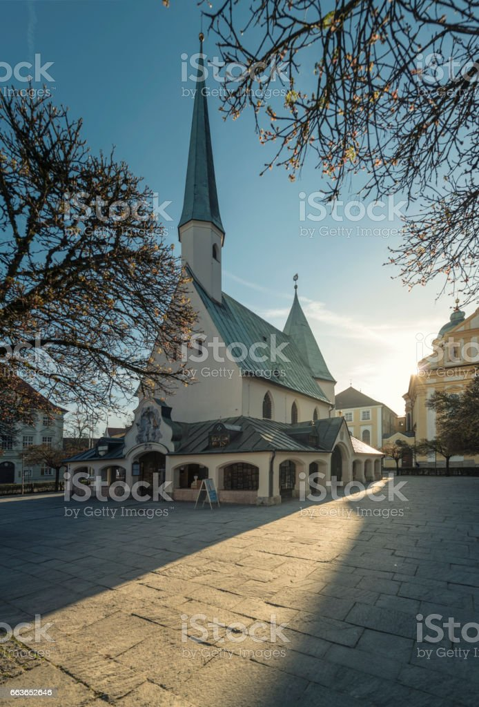 Chapel Square in altoetting stock photo