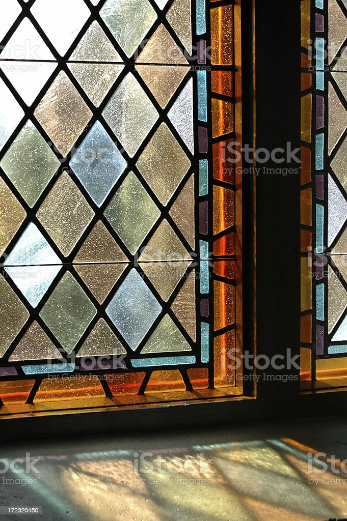 Chapel Stained Glass stock photo