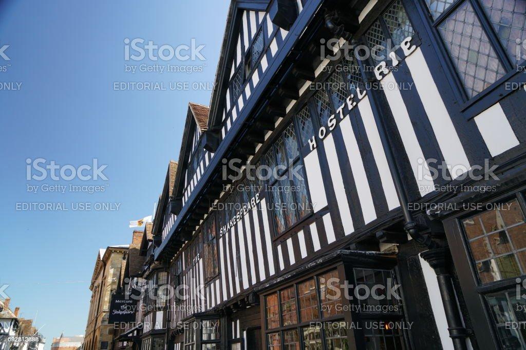 Chapel street of Stratford-upon-Avon stock photo
