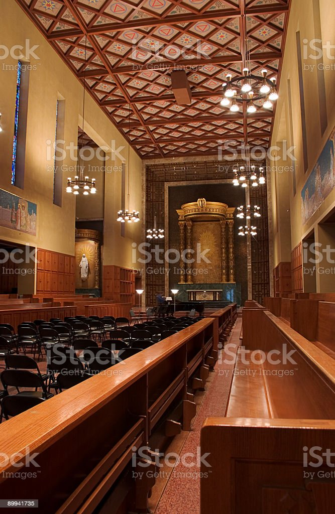 Cappella/concert hall foto stock royalty-free