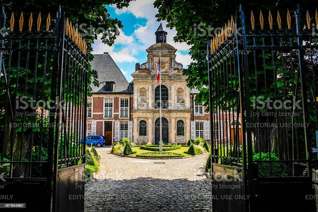 Chapelle Fort Saint-Sauveur in Lille stock photo