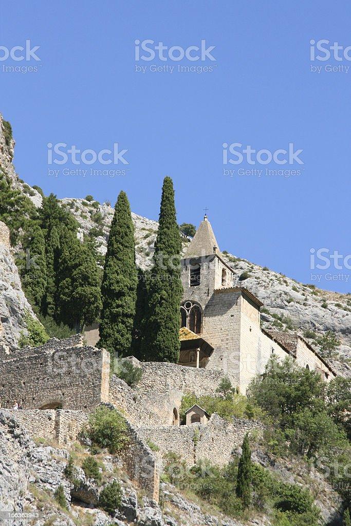 chapelle notre dame de beauvoir - Moustiers sainte marie royalty-free stock photo