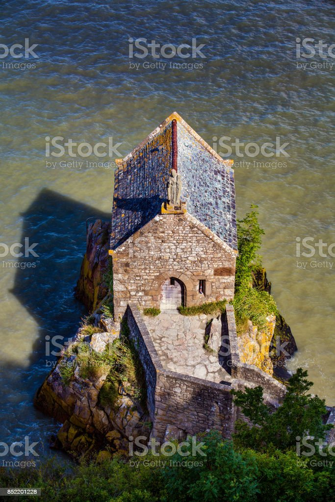 Chapelle Saint-Aubert, Saint Michael's Mount, Normandy, France stock photo